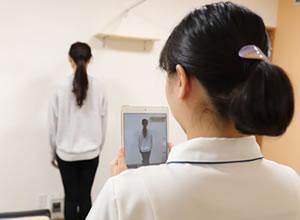 姿勢の検査の写真